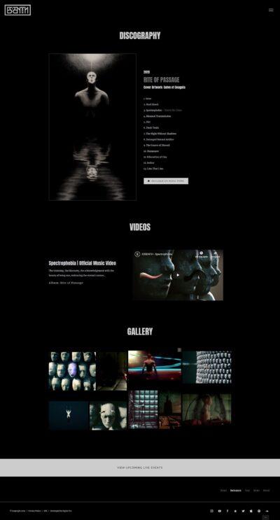 Página web de lanzamientos de banda de rock