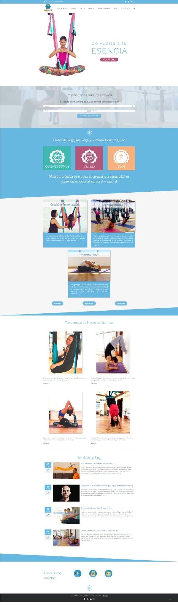 Página de inicio de Ambara Yoga