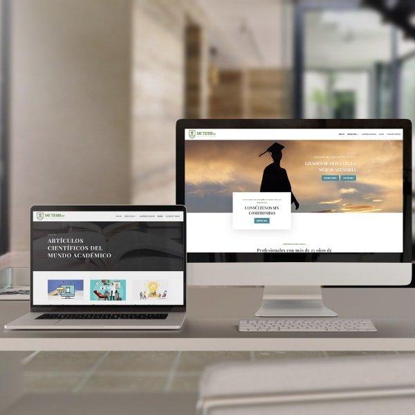 Sitio web de Mitesis Ecuador